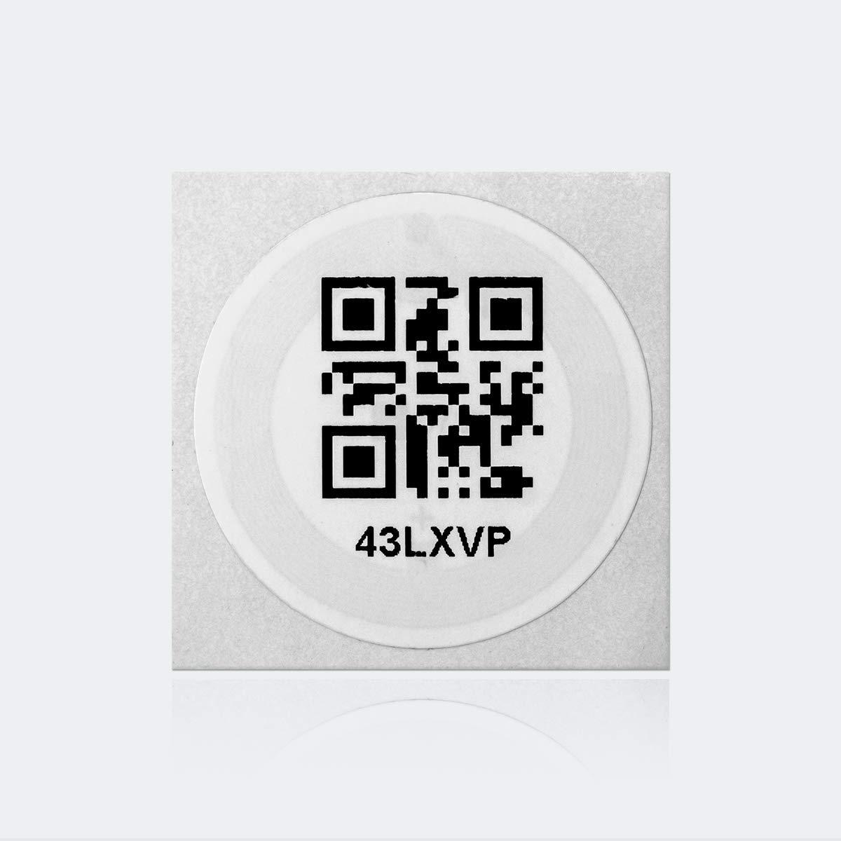 Ready Made ID Printed NFC Sticker 38 mm Circle iCode SLIX 10 Pack
