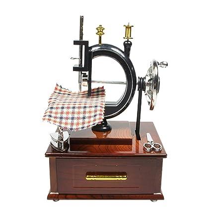 Amazon.com: Baoblaze Handmade Mini Retro Clockwork Musical Box Sewing Machine Music Case Decoration Gifts: Toys & Games