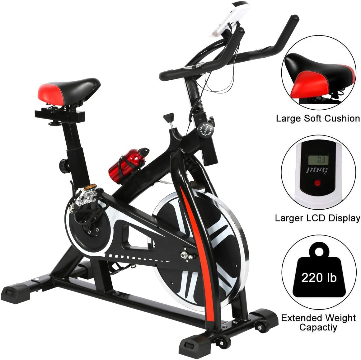 Heavy Duty Exercise Bike Bicycle Indoor Home Gym Cycling Cardio Fitness Workout