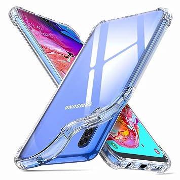 DYGG Compatible con Funda para Samsung Galaxy a70 Carcasa Silicona Transparente TPU Protector Airbag Anti-Choque Ultra-Delgado Case Caso Anti-arañazos
