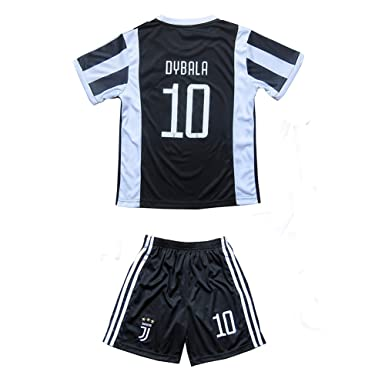 2be3bf8dc55 Dybala  10 Juventus Home Kids Youth Soccer Jersey 2017 2018 Black White  Size 11-13Y