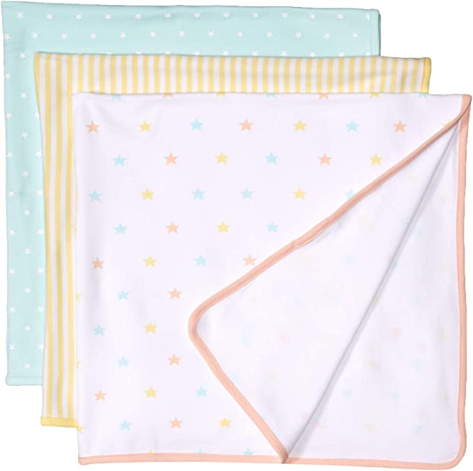 Girl Heart One Size P/_AE1717/_M3 Essentials Baby 3-Pack Swaddle Blanket