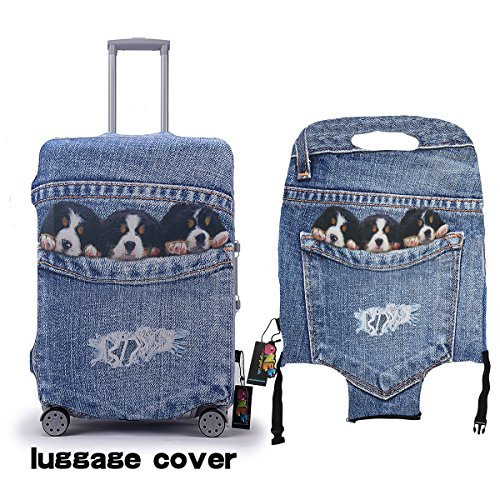 Luggage Covers Protector 3D Denim Animals Fit 18-30 Cover With Buckle And...
