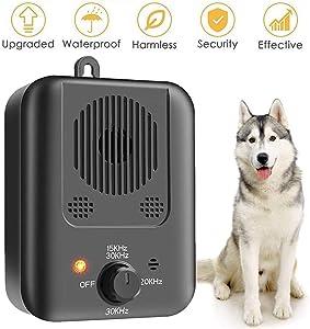 YC° Anti Barking Device Ultrasonic Stop Dog Bark Deterrents, Waterproof Outdoor Bark Control Device Safe Harmless and Human Anti Bark Training for Dogs