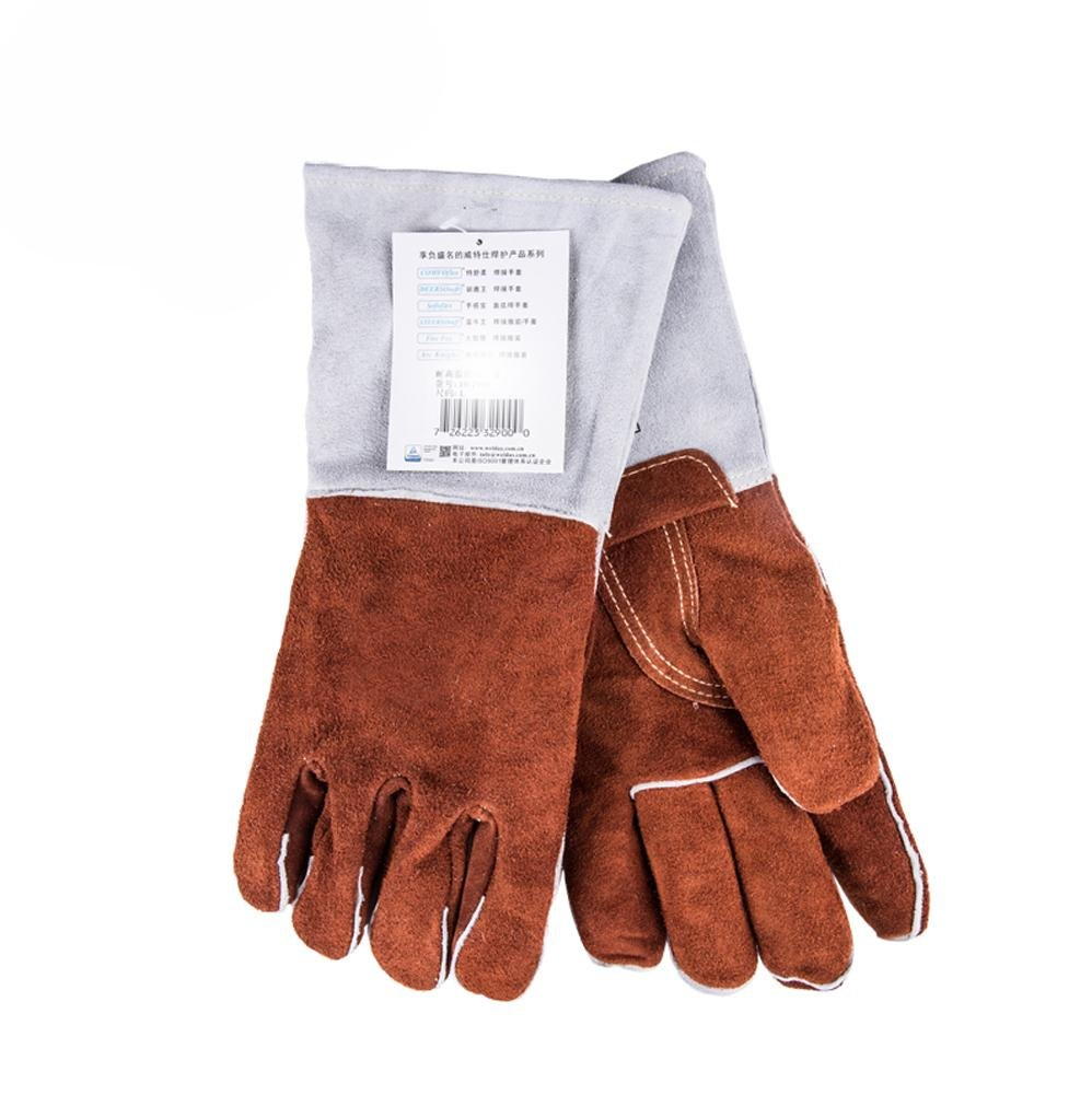 Resistant to 250 degrees high temperature welder gloves gas welding extended wear thickening insulation labor safety products safety gloves , xl by LIXIANG (Image #3)
