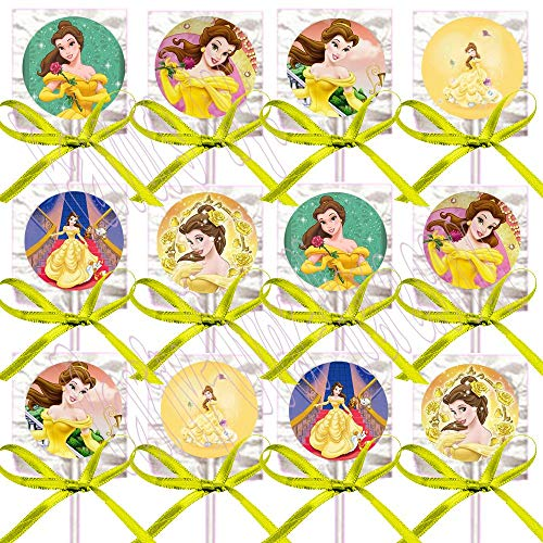 Belle Beauty and The Beast Lollipops Party Favors
