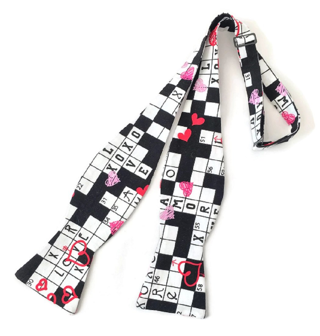 Self-Tie Bow Tie Valentine Sweetheart Crossword for Men (Boys)