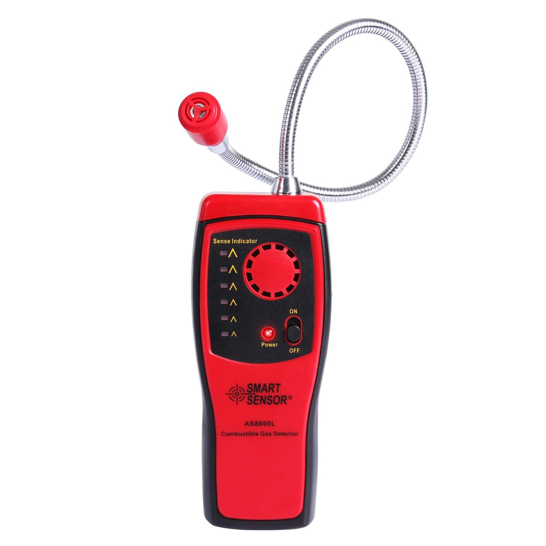 SGILE Gas Detector, Portable Natural Propane Leak Detector Sensor, Combustible Gas Sniffer with Sound Warning, Adjustable Sensitivity and Flex Probe
