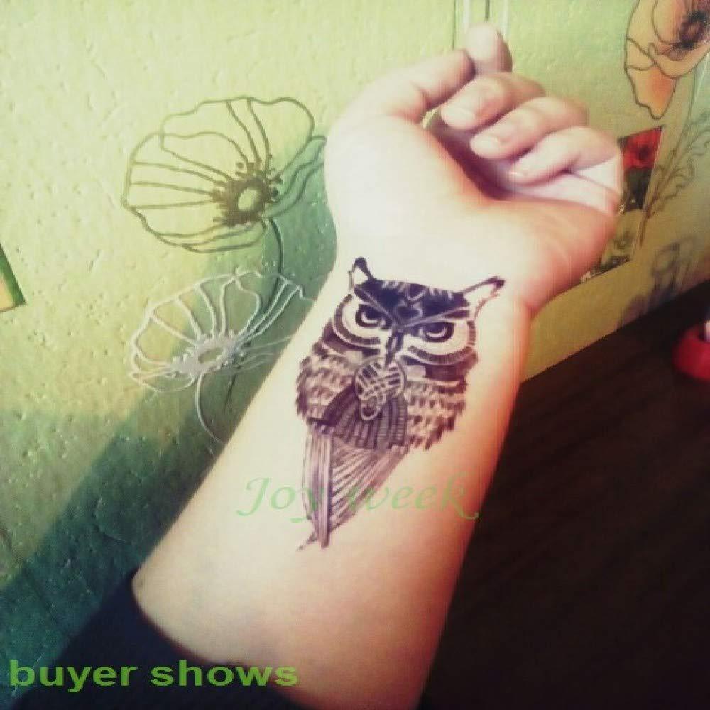 ljmljm 5pcs Impermeable Etiqueta engomada del Tatuaje del Lobo del ...