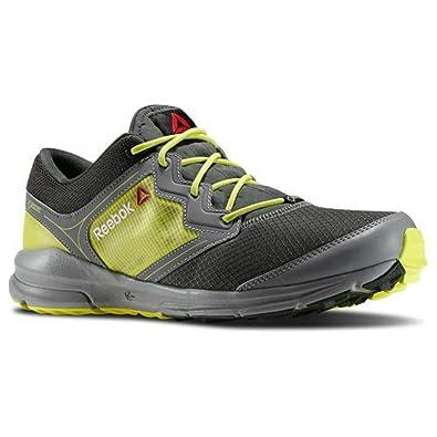 Mens ONE GTX Lite Running Shoe Flat Grey / Dark Sage / High Vis Green