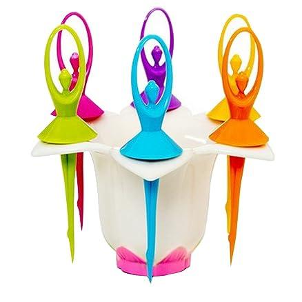 Actlati 6pcs/set Ballet Girl design insalata forchetta da tavola ...