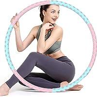 Sunshine smile Hoelahoep, fitness hoelahoep voor gewichtsvermindering en massage, fitness hoelahoepband, gymnastiek…
