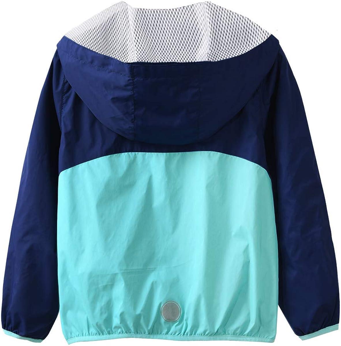 M2C Boys /& Girls Raincoat Hooded Jacket Outdoor Light Windbreaker
