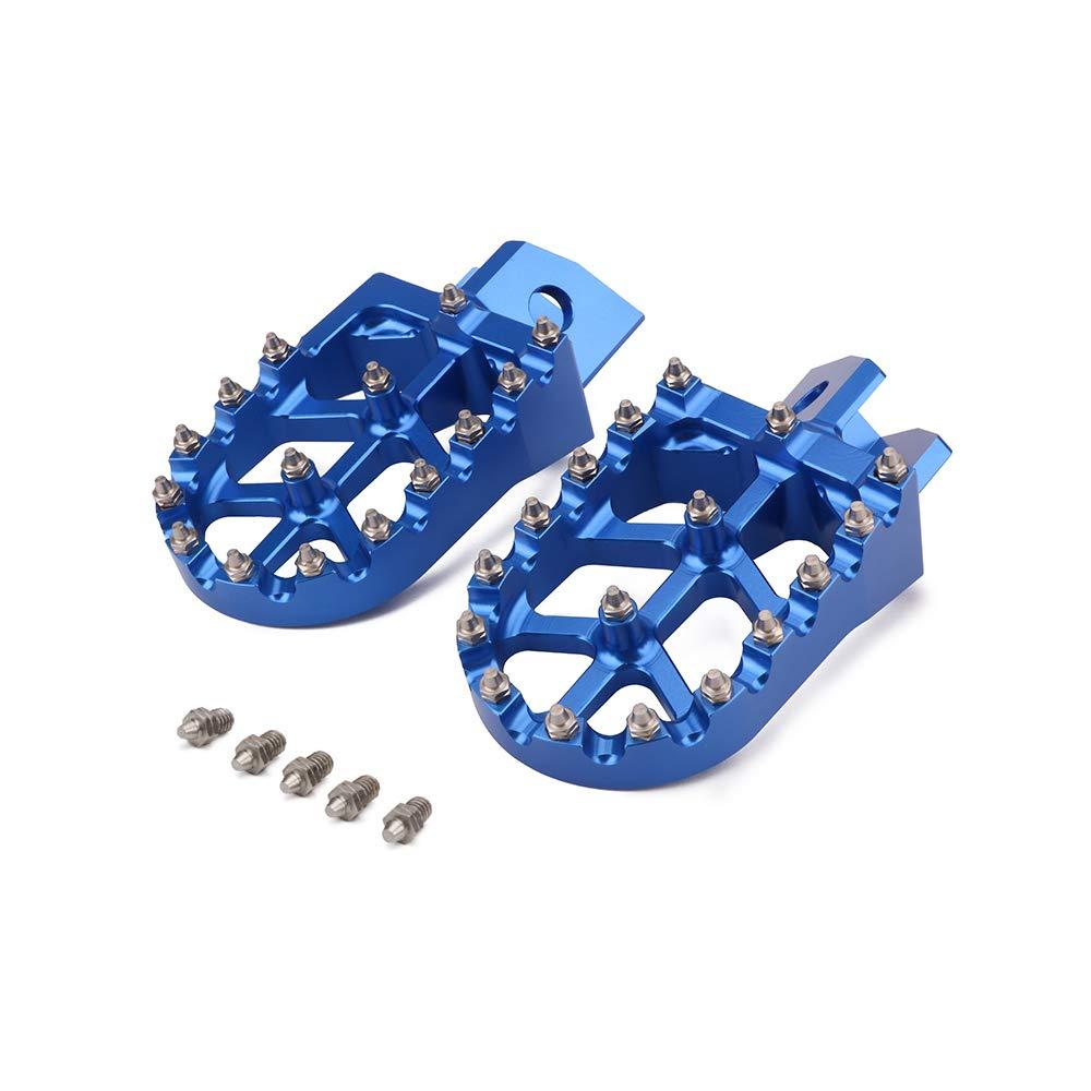 Billet Mx Wide Foot Pegs Pedals Rests Yamaha Yz80 Wah Pedal 1993 Yz125 Yz250 Yz500 Wr200 Wr250 Wr500 87 05 Honda Xr350 500 83 84 Automotive