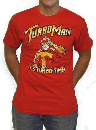 MyPartyShirt Hombre Turbo Camiseta Padre en apuros Es Turboman Tiempo de película de Navidad (Mens XL): Amazon.es: Hogar