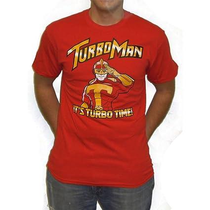 MyPartyShirt Hombre Turbo Camiseta Padre en apuros Es Turboman Tiempo de película de Navidad (Mens
