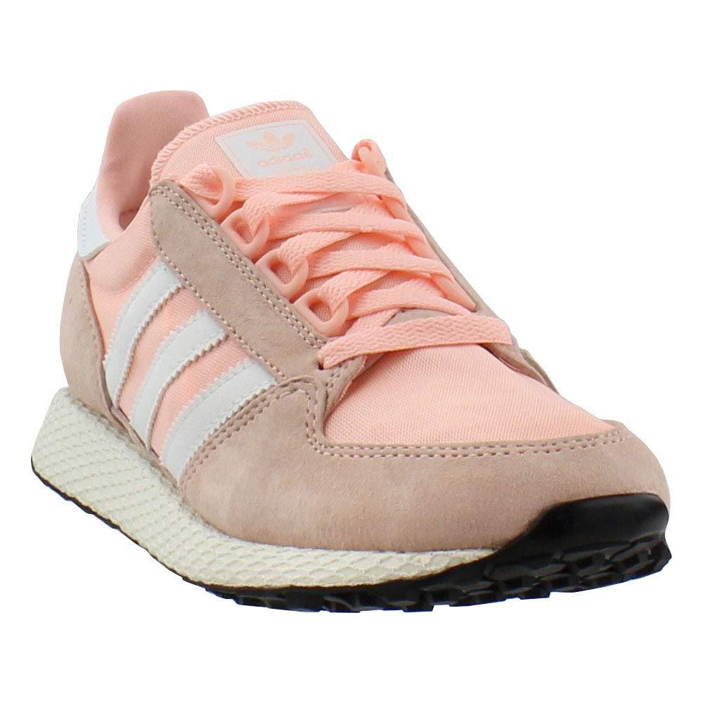 adidas Originals Women's Forest Grove W Running Shoe, Clear Orange/Cloud White/Black, 8 M US