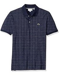 Men's Short Sleeve Slim Fit AOP Micro Pattern