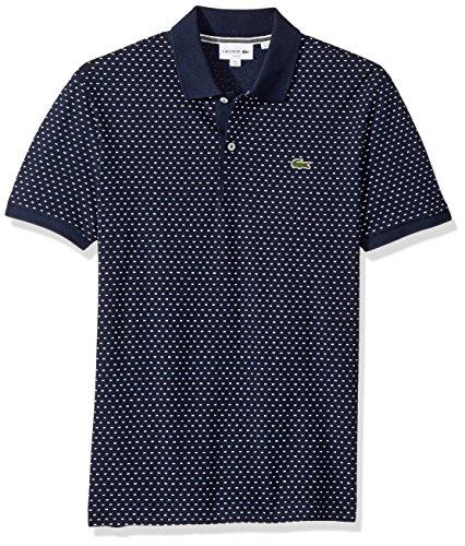 Lacoste Mens Short Sleeve Slim Fit AOP Micro Pattern