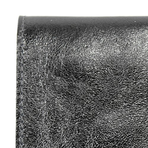 modamoda de - Made in Italy - Cartera de mano para mujer M151 Anthrazit Metallic