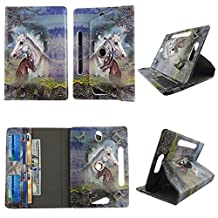 """Racing Horse tablet case 10 inch for Hipstreet Phoenix 10"""" 10inch android tablet cases 360 rotating slim folio stand protector pu leather cover travel e-reader cash slots"""