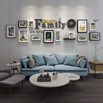 WUXK Foto Wände In Einer Minimalistischen Modernen Wohnzimmer Ideen  Kombiniert Bilderrahmen Wall Sofa Hintergrund Foto Album