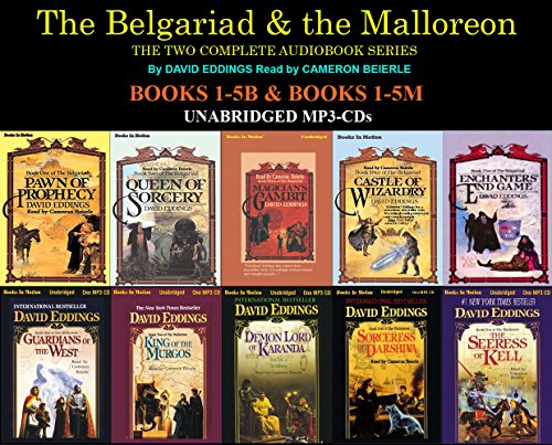 The Complete Belgariad & Malloreon Series Books 1-10 (Pawn of Prophecy, Queen of Sorcery, Magician's Gambit, Castle of Wizardry, Enchanters End Game, Guardians of the West, King of the Murgos, Demon Lord of Kranda...) MP3-CD David Eddings (Pawn Of Prophecy Cd)