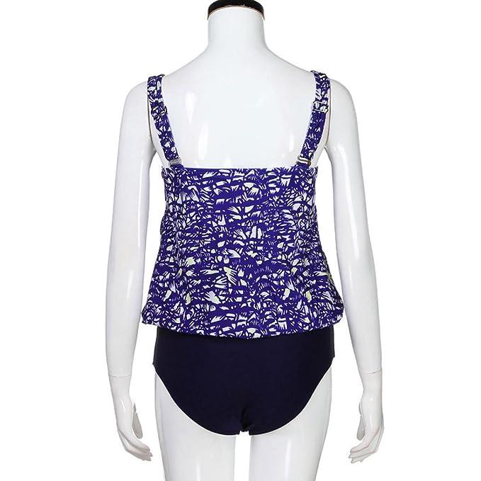 DEELIN Conjunto De Bikini Floral Estampado Estampado para Mujer Laminillas Push-Ups Espesar BañO BañO: Amazon.es: Ropa y accesorios