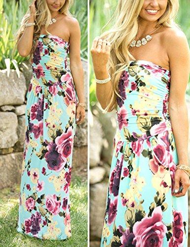 Elegante Senza Lylafairy Estivi Vestiti Spalline Vestito 6 Floreale Lungo Donna Abito xwRYxrT8