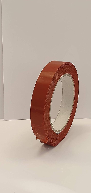 Arancio gomma naturale 79/µm Nastri Strapping rinforzati antistrappo 130 IMBALALGGI 2000 60 m x 15 mm mopp supporto