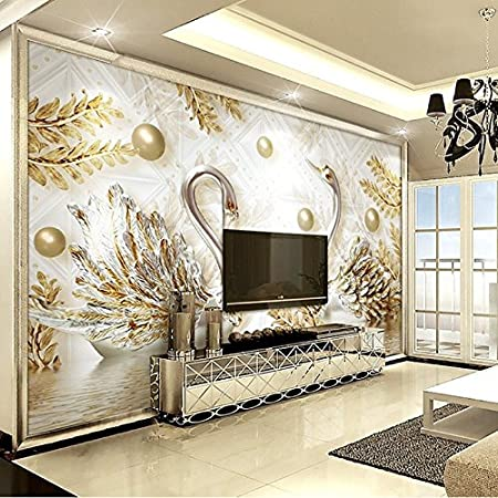 HUANG YA HUI Murals Jewelry 3D Stereoscopic 5D Living Room Tv