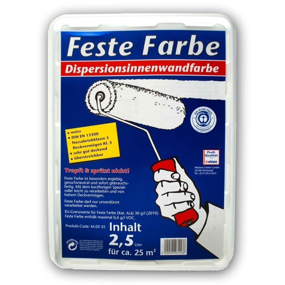 Dulux Feste Farbe wilckens feste farbe 2 5l weiß amazon de baumarkt