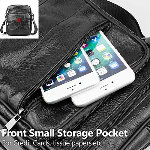 Crossbody Schoudertas Bag Black Messenger Ipad Bagzy Bag Zakelijke Top Lederen Portemonnee Messenger Tablet Reisetui Kindle Heren De Handle AxxXHp