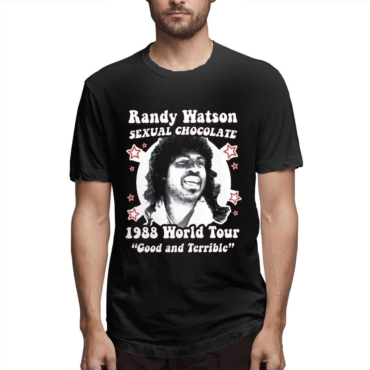 Daigg Sexual Chocolate Randy Watson Summer Fashion Print Short Sleeve Shirts
