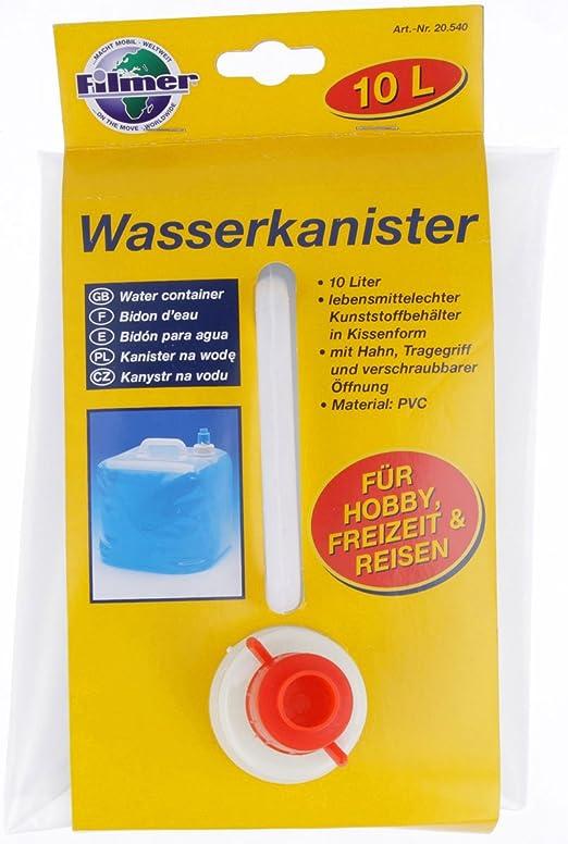 Contenedores de agua cineasta original para camping y vacaciones, plegable y flexible envases de 10 litros