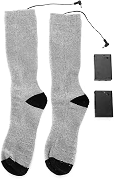 Électrique Chauffée Chaussettes Botte Pieds Warmer USB Rechargeable Chaussette sport d/'hiver