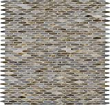 M S International Mochachino Mocha Chino 12 In. X 12 In. X 3mm Glass Mesh-Mounted Mosaic Wall Tile, (20 sq. ft., 20 pieces per case)