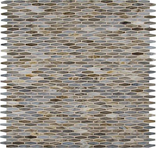 M S International Mochachino Mocha Chino 12 In. X 12 In. X 3mm Glass Mesh-Mounted Mosaic Wall Tile, (20 sq. ft., 20 pieces per - Glass Tile Mounted Mesh