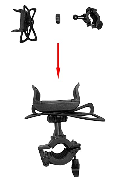 S8 Black 6s Plus 6s LG Stylo 4 Galaxy S10 360 Degree Rotation Hollow Mountain Bike Phone Holder for iPhone Xs Max//XR// 8 7 S10+ 8 Plus 7 Plus S7 S9 Universal Bike Phone Mount