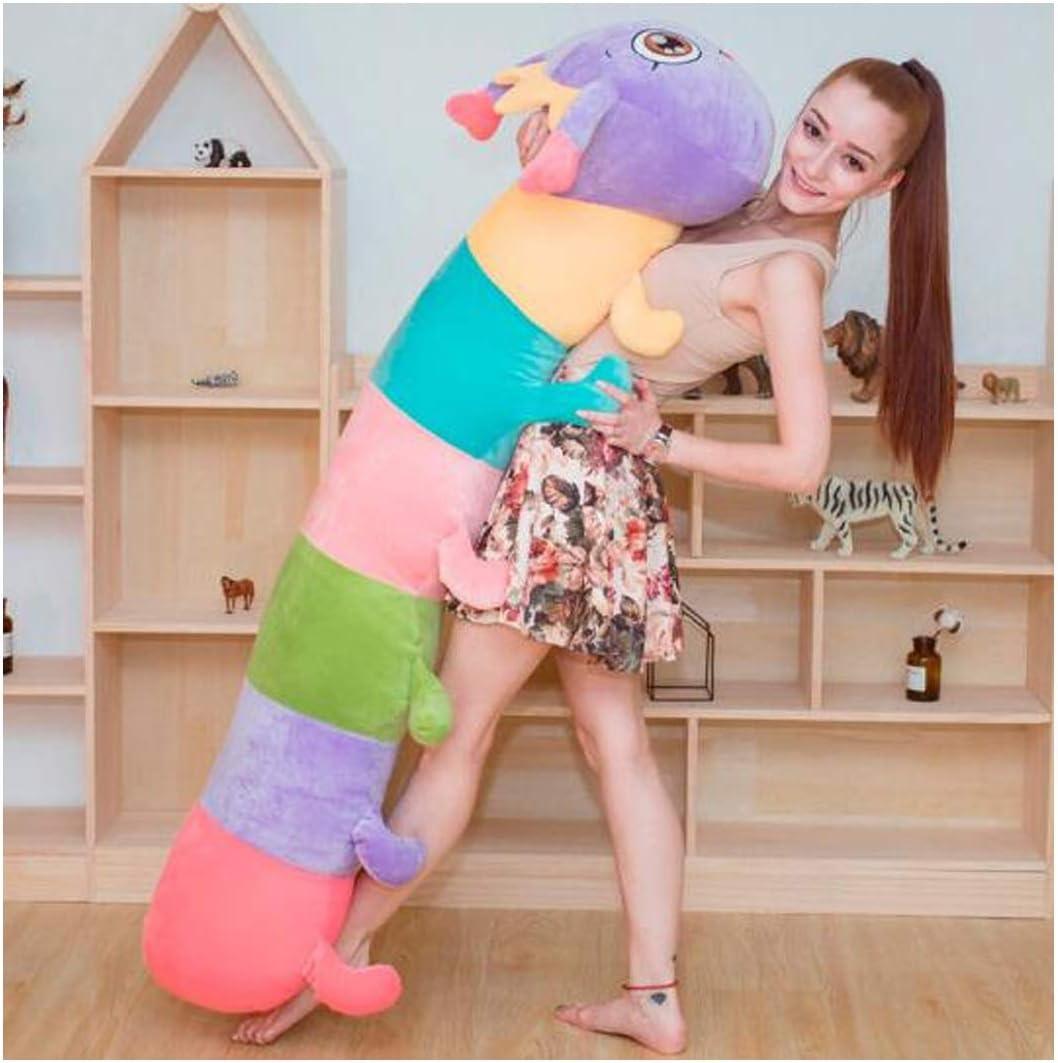 キャタピラー人形ぬいぐるみ人形人形人形生地大きな人形ライトパープル1.55 m ( Color : 紫の , Size : 1.55m )