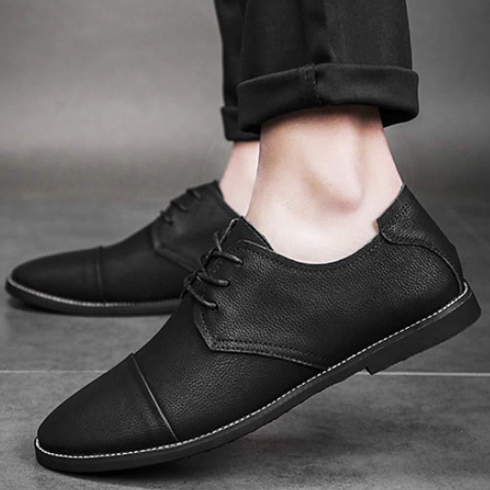LYZGF Frühling, Spitze, Herren, Mode, Leder, Schuhe, Bequem, Atmungsaktiv, Mode, Herren, Freizeitschuhe schwarz d0fd53