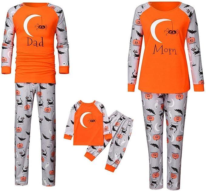 POLP Pijama de Halloween para Familia Hombre Mujer y Niños ...
