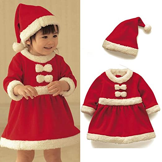 5491142624ca3 Image Unavailable. Image not available for. Color  Xeminor Xmas Santa  Clothes Baby Christmas Party Costume Toddler Kids Girl Xmas Santa Costume  Red