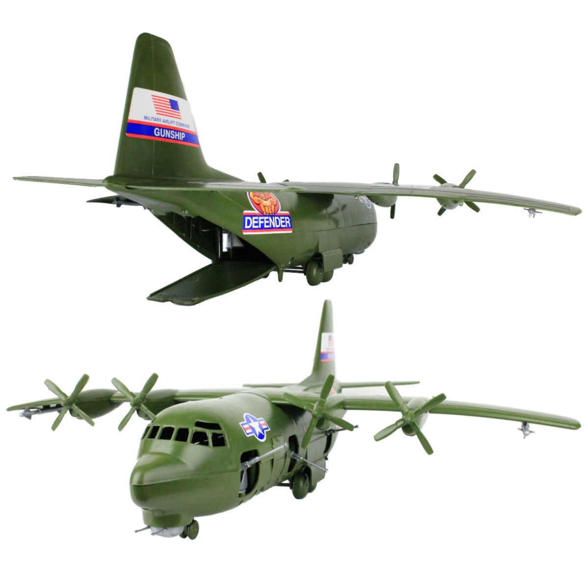 TimMee Plastic Army Men C130 Playset -27pc Giant Military Airplane Made in USA by Tim Mee Toy (Image #4)