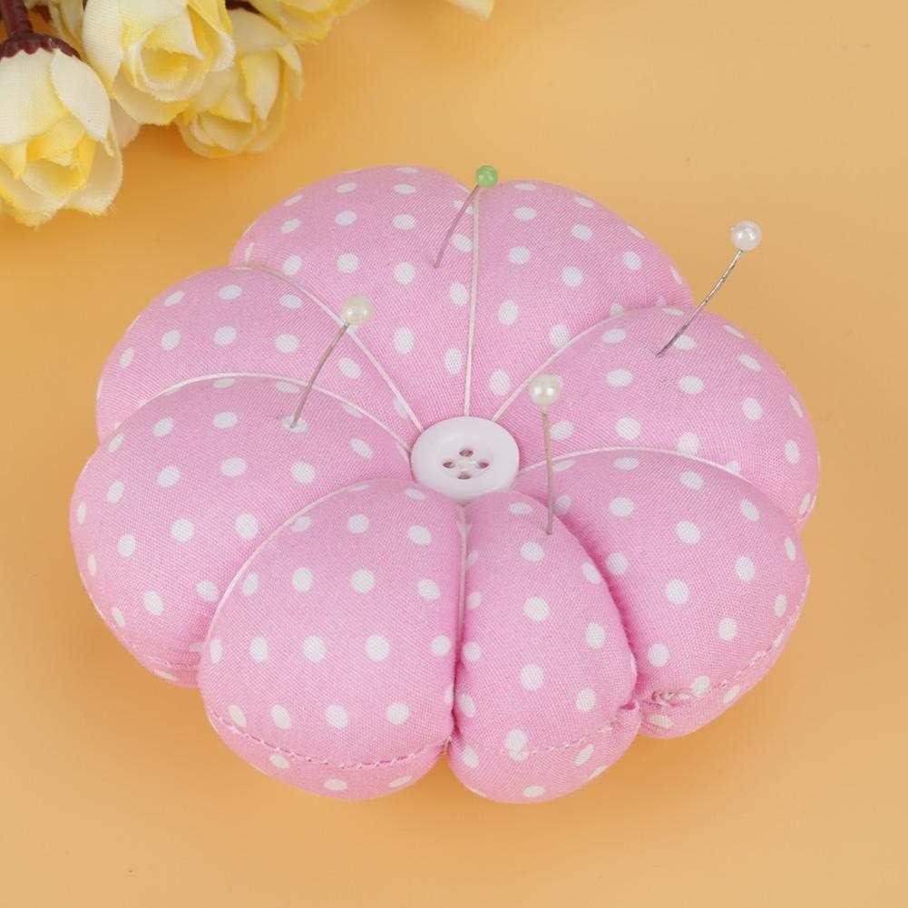 Pumpkin Shaped Wrist Pin Cushion for Sewing Handmade DIY Crafts Supplies Blue Needle Cushion
