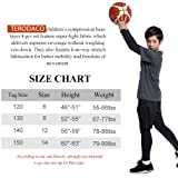 TERODACO Boys Football Shorts Set w Compression