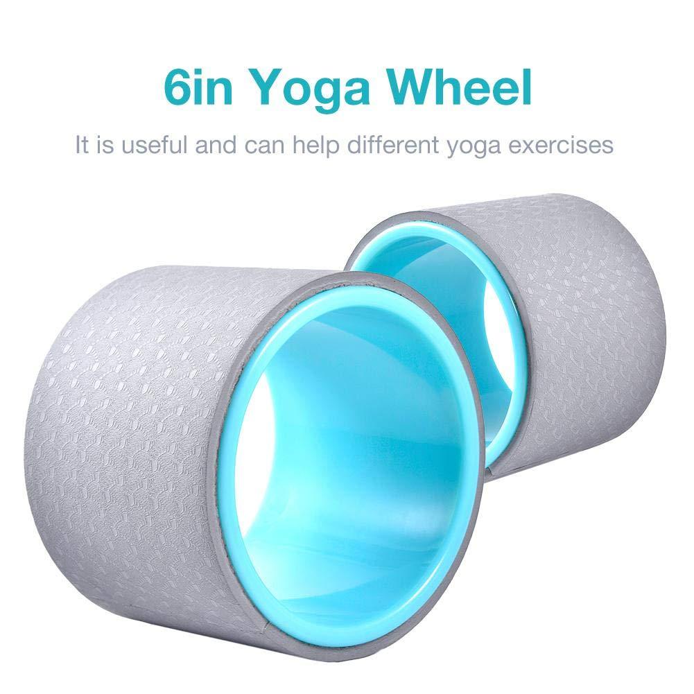 Motto.h Yoga Wheel Aro Yoga 6 Pulgadas, Capacidad de Carga ...
