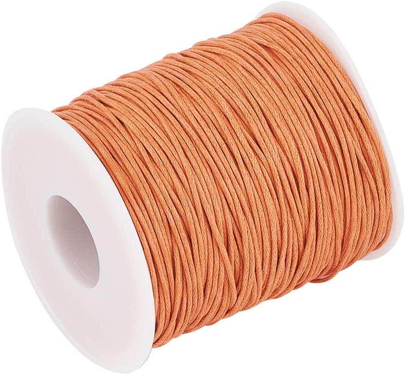 Teal Beadthoven 1 Roll 1mm Waxed Cotton Thread Beading Cord for Jewelry Making Leather Sewing Crafting Macrame Supplies 100 Yards per Roll Spool