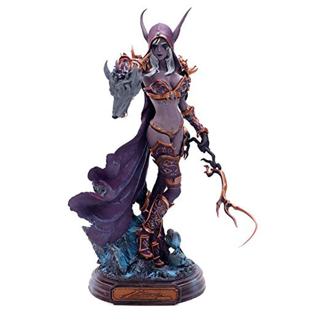 YIFNJCG Personnage Jouet Modè le World of Warcraft Sylvanas Mort-Vivant Reine Statue Home Office Dé coration
