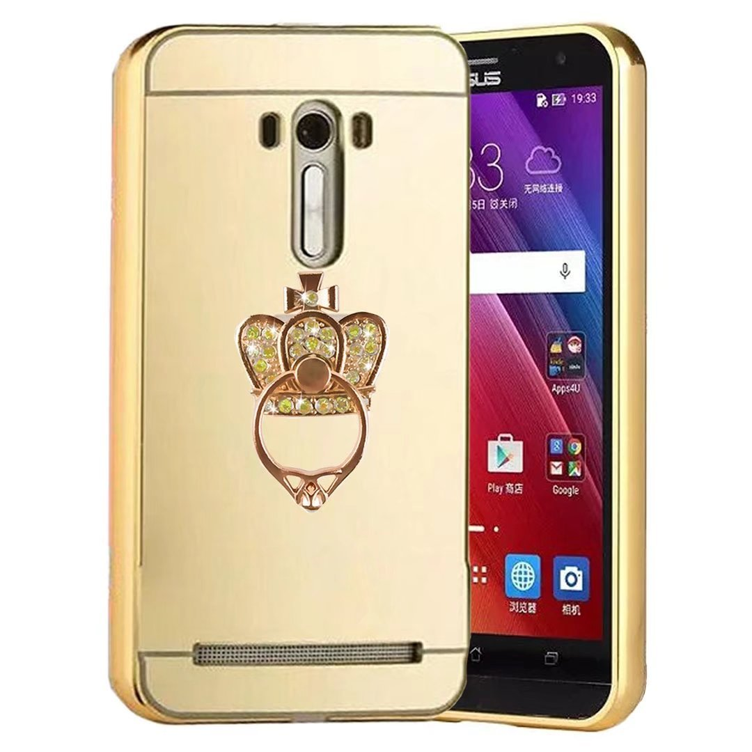 Qkke Finger Buckle Series Metal Air Aluminum Bumper Alumunium Case Asus Zenfone 2 55 Detachable Mirror Hard Back In 1 Cover Ultra Thin Frame For 5crown